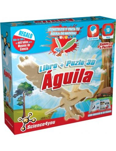 Libro + Puzle 3D Águila